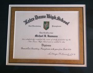 NDHS Diploma 1978