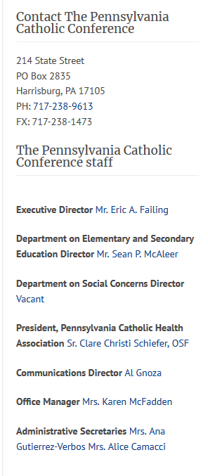 Screenshot_2019-05-19 Pennsylvania Catholic Conference » Contact