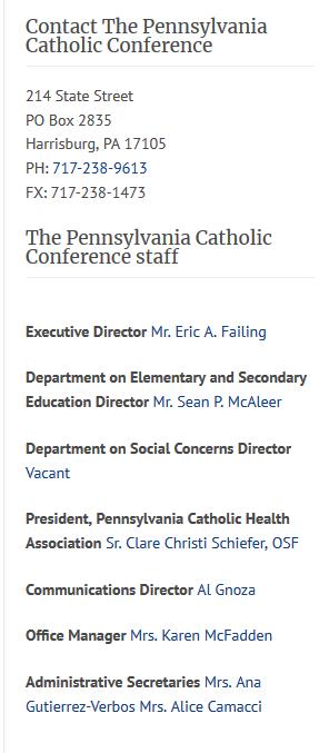 Screenshot_2019-05-19 Pennsylvania Catholic Conference » Contact